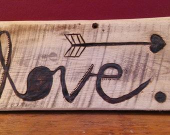 LOVE Barnwood Wall Art