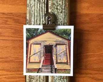 Photo Holder (1 or 2 clips) with Calendar Option - Historic Floorboards