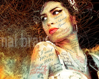 Amy Winehouse, For You I Was the Flame, print, poster