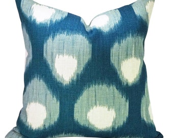 Bukhara pillow cover in Blue/Blue