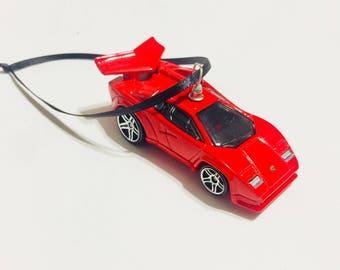 Lamborghini Countach Super Car Valentines Ornament Decoration Stocking Stuffer High Quality Handmade Best Man Guy Boy Gift Kids Toy Diablo
