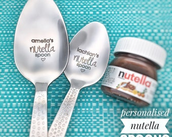 Nutella Spoon Nutella Personalized Spoon Personalised Nutella Chocolate Gift Nutella Lover Easter Gifts Easter Easter Basket Chocolate Gifts