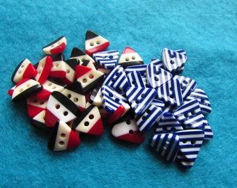Triangular Stripe Buttons