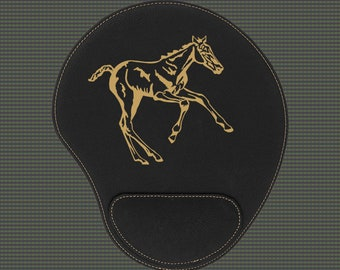 Engraved Leatherette Mouse Pad - Horse Designs 4