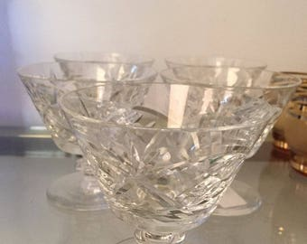 Cut Glass Martini Glass