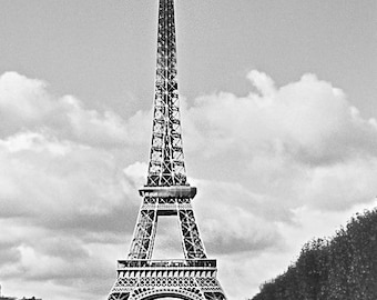"""Eiffel Tower Photo, Matte Canvas Print, Vintage Photography, Fine Art Prints, """"La Tour Eiffel"""""""