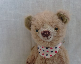 "Artist Teddy Bear ""A brown bear"" made by mie-jirusi, 6"""