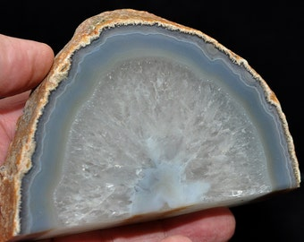 Agate Geode No. 15, Druze, Geode, approx. 415 grams