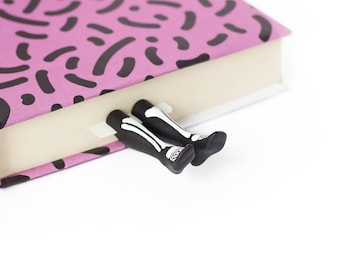 Skeleton legs bookmark. Creepy and unusual gift for him, for her.