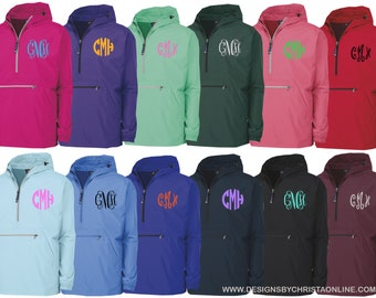 Monogrammed Rain Jacket / Pack N Go Pullover / Quarter zip