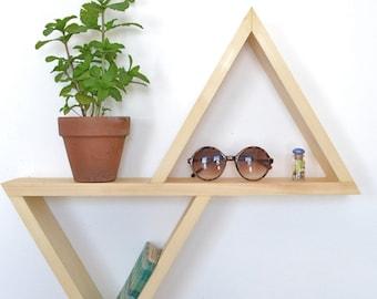 Unstained/ No Finish Geometric Shelf II