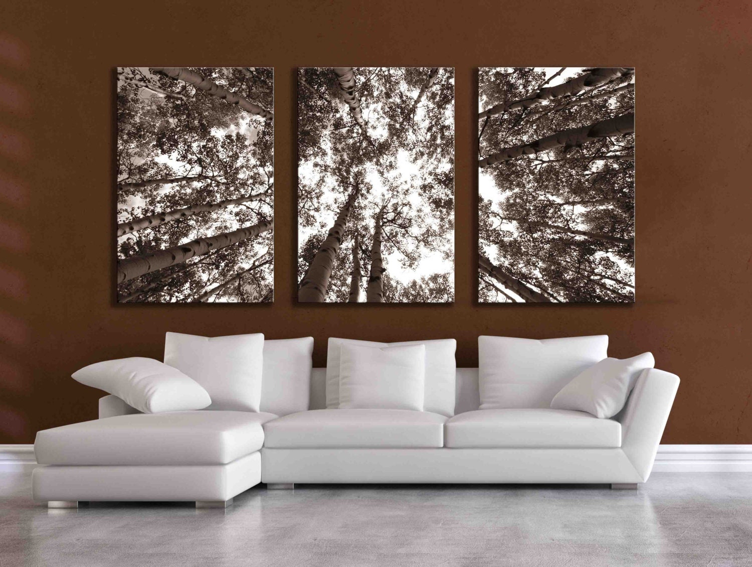 Three large multi panel wall art aspen 20x24 inch or 24x36 zoom teraionfo