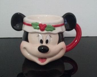 "Vintage ""Disney Parks"" Mickey Mouse 3D Holiday Mug"