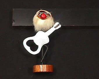 Vintage 1960's Santa Claus Guitar Player Bottle Opener