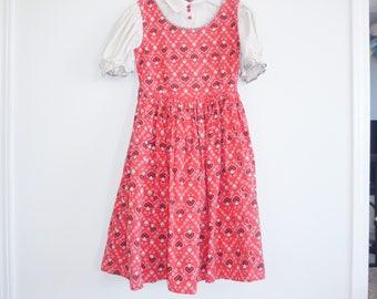 Vintage Red Girl's Dress