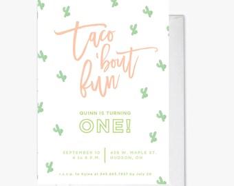 Taco 'bout Fun Fiesta Invitation printable