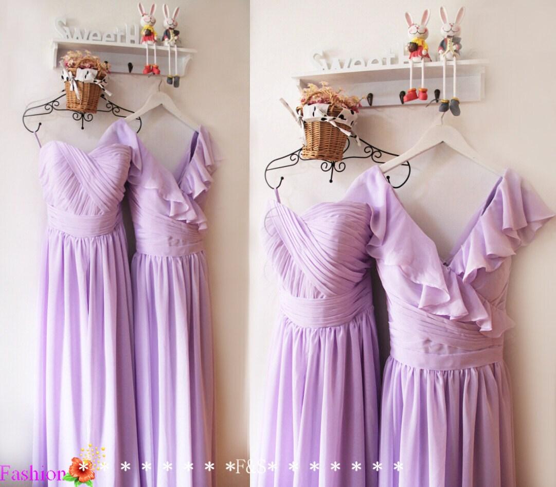 Lavender bridesmaid dresslilac prom evening dressbridesmaid zoom ombrellifo Image collections