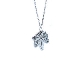 """Mary Jane - 18"""" Silver Necklace"""