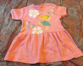 Baby Girls Dresses, Baby Clothes, Vintage Baby Clothes, Vintage Baby Dress, OP Ocean Pacific Dress Size 3T, Pink Dress, Baby Dresses, 80s