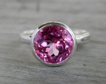 Pink Topaz and Sterling Ring, ROCK FETISH Limited Edition, Made to Order