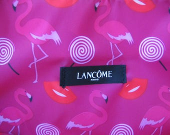 Sale!!! New Lancome Polyester Pink And Red Tote Bag/Handbag, Women's Shopping Bag with Cute Lining and Shoulder Straps