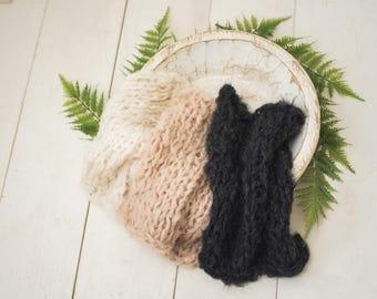 Fine Alpaca Wipsy layer blanket newborn photography prop layers