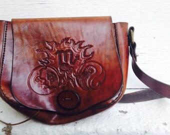 Vintage Handmade Leather Purse - BOHO Bag