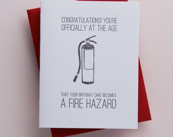 fire hazard birthday cake