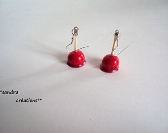 pair love Apple earrings