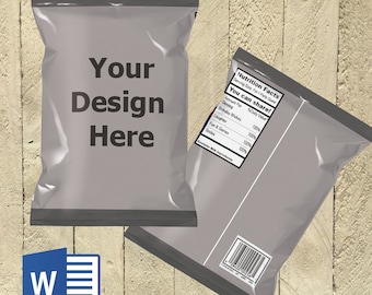 Chip Bag - Template - DOC File - MUST HAVE Microsoft Word!