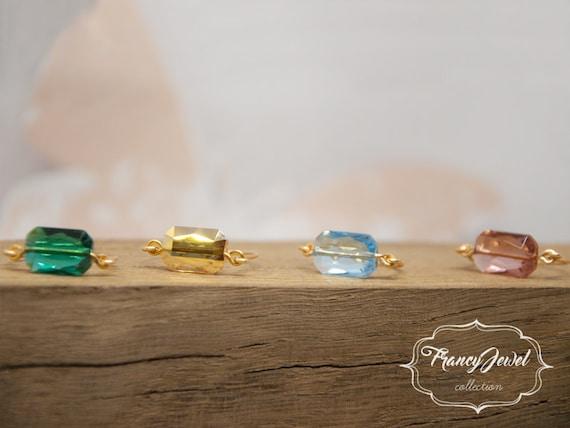 Swarovski, Emerald cut, crystal, silver ring, gold ring, handmade ring, made in Italy, handmade jewelry, Anniversary gifts, bridesmaid gift