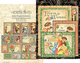 Graphic 45-Little Women Ephemera Journaling Cards