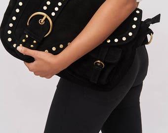 Saddle Bag - Charcoal (Shoulder & Cross Body)