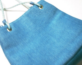Vintage AMANDA SMITH Designer Handbag Teal Turoquoise Mesh Weave Purse Fabric Lined Quality Classic Style Designer Purse Designer Tote Bag