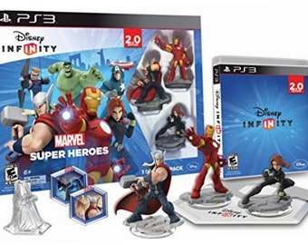 Disney INFINITY: Marvel Super Heroes (2.0 Edition) PS3 PlayStation-3 Video Game Starter Pack -Free Ship-