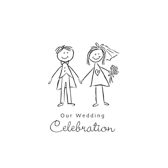 bride and groom cartoon clip art graphic to use on a wedding rh etsy com clipart bride and groom free clipart bride and groom cartoon