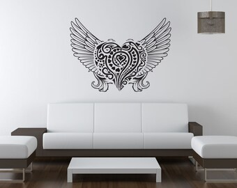 Vinyl Wall Decal Sticker Abstract Angel Heart 1056s