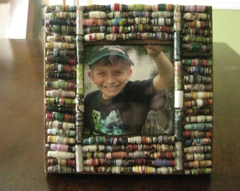 Paper Beaded Picture Frame