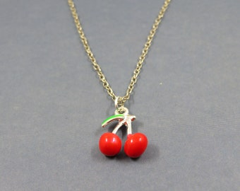 Cherry necklace - personalized gift cherry - cherry - cherry fruit necklace - necklace Orosius charm