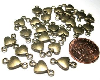 10pcs Antique Bronze Heart Link Connector Charms 15x8mm
