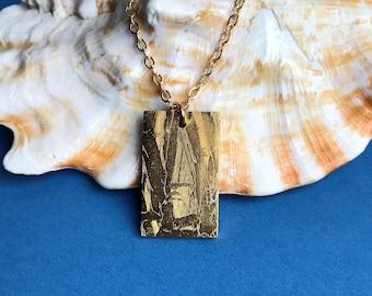 Seymchan Meteorite Pendant Gold 24k, meteorite necklace