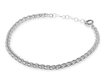 Chain Bracelet, Silver Chain Bracelet, Links Bracelet, Dainty Bracelet, 925 Silver Bracelet, Stackable Bracelets, Minimalist Boho Jewelry