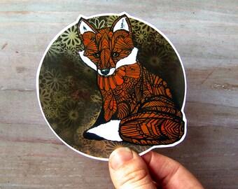Fox Sticker Zentangle