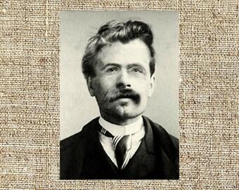 Friedrich Nietzsche photograph, Friedrich Nietzsche black and white photo print, Friedrich Nietzsche vintage photograph, iconic philosophers