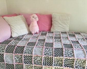 Twin Size Rag Quilt