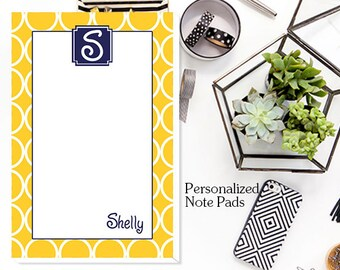 Hoops Personalized Notepad -  Custom Note Pads, Monogrammed Note Pads, Personalized Note PadsAvailable in 4 Sizes