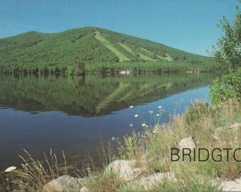 Bridgton, Maine, Moose Pond, Unused Postcard  c1970s, good shape