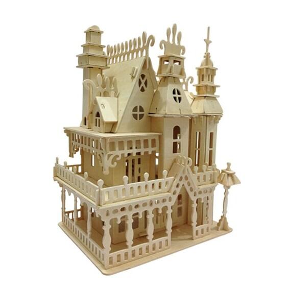 Miniatur Puppenhaus 3D Holz Puzzle Haus Modell DIY Spielzeug W