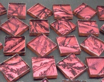 CRANBERRY RED - Van Gogh Stained Glass Mosaic Tile Squares B24