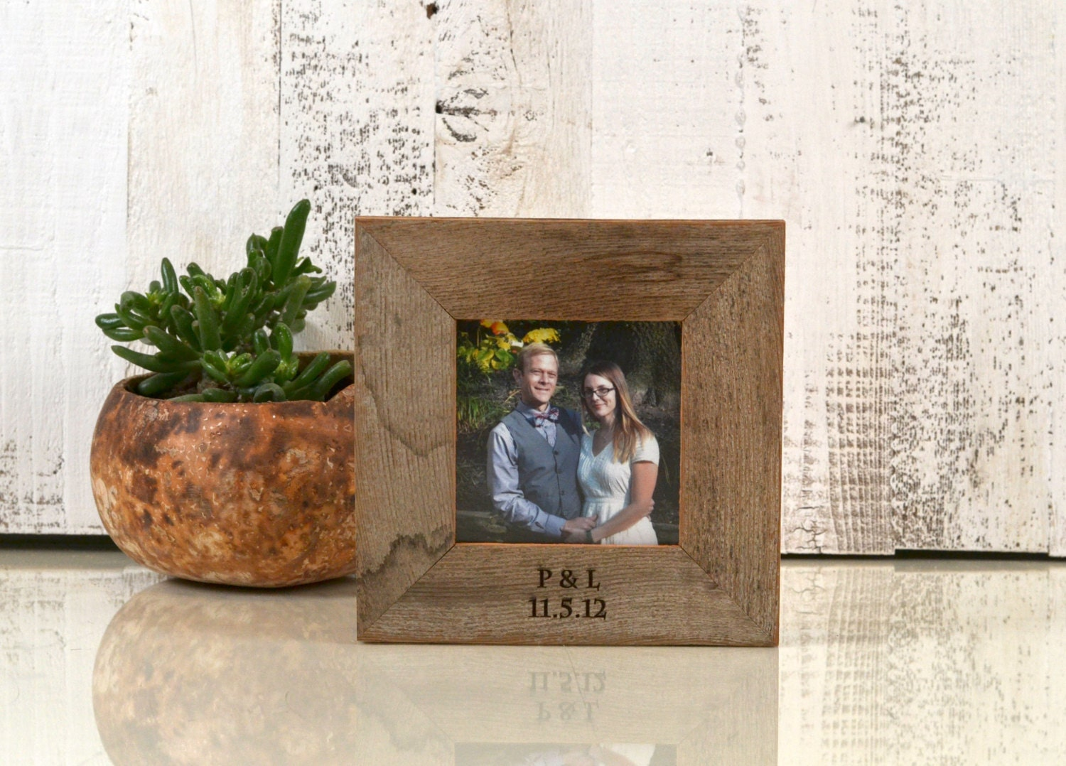 4x4 Square Frame Custom Engraved with Your Message - Picture Frame ...